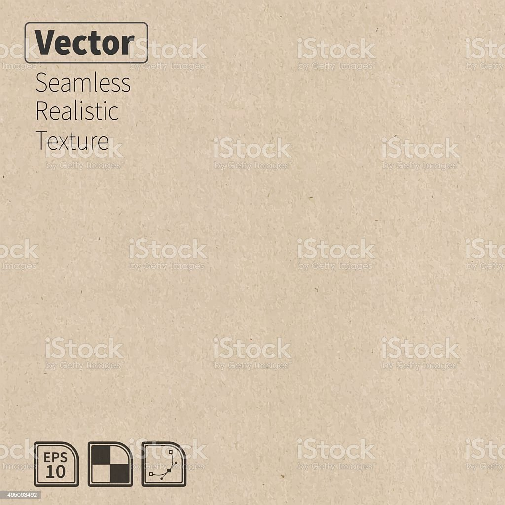 Vector seamless cardboard texture. vector art illustration