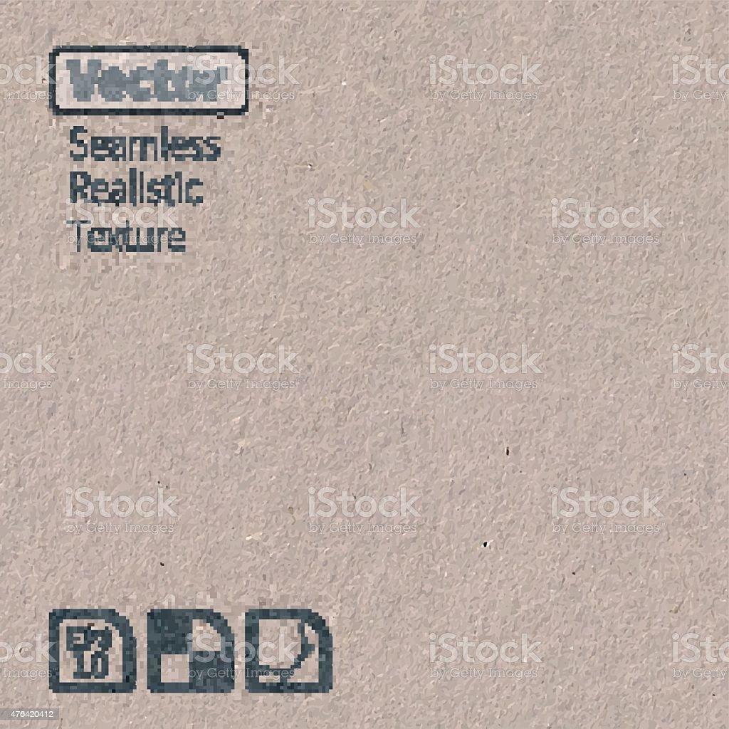 Vector seamless cardboard texture. vector art illustration