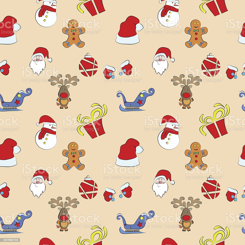 Vector Seamless Christmas pattern. royalty-free stock vector art