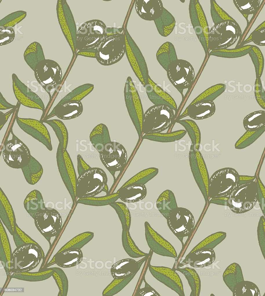 vector seamless color olive light background vector art illustration