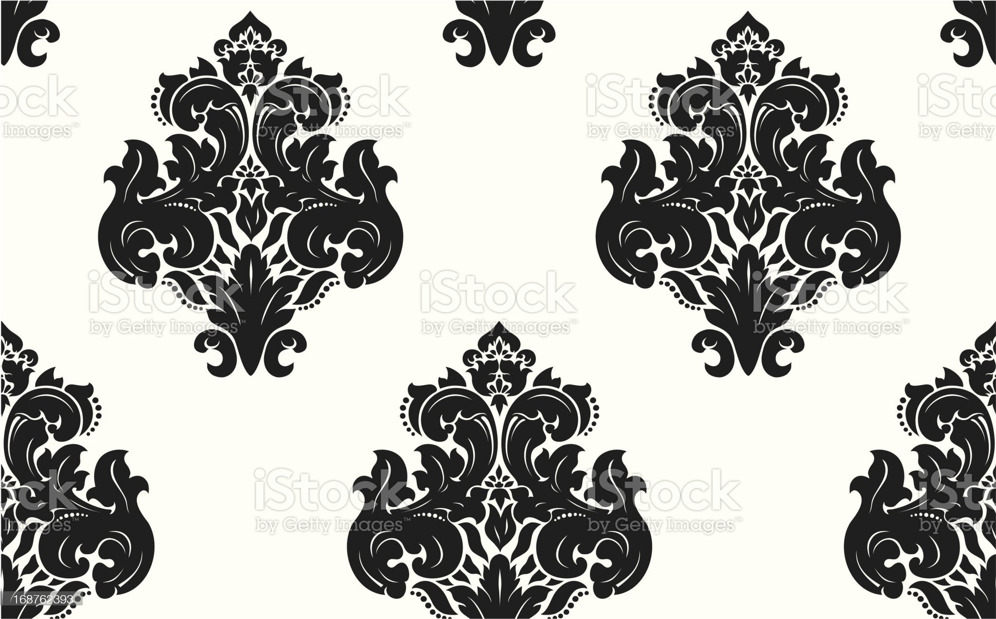 Vector. Seamless damask pattern royalty-free stock vector art