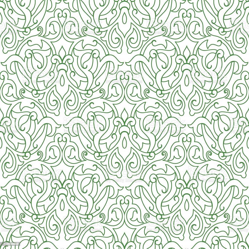 vector seamless floral geometric arabesque pattern royalty-free stock vector art