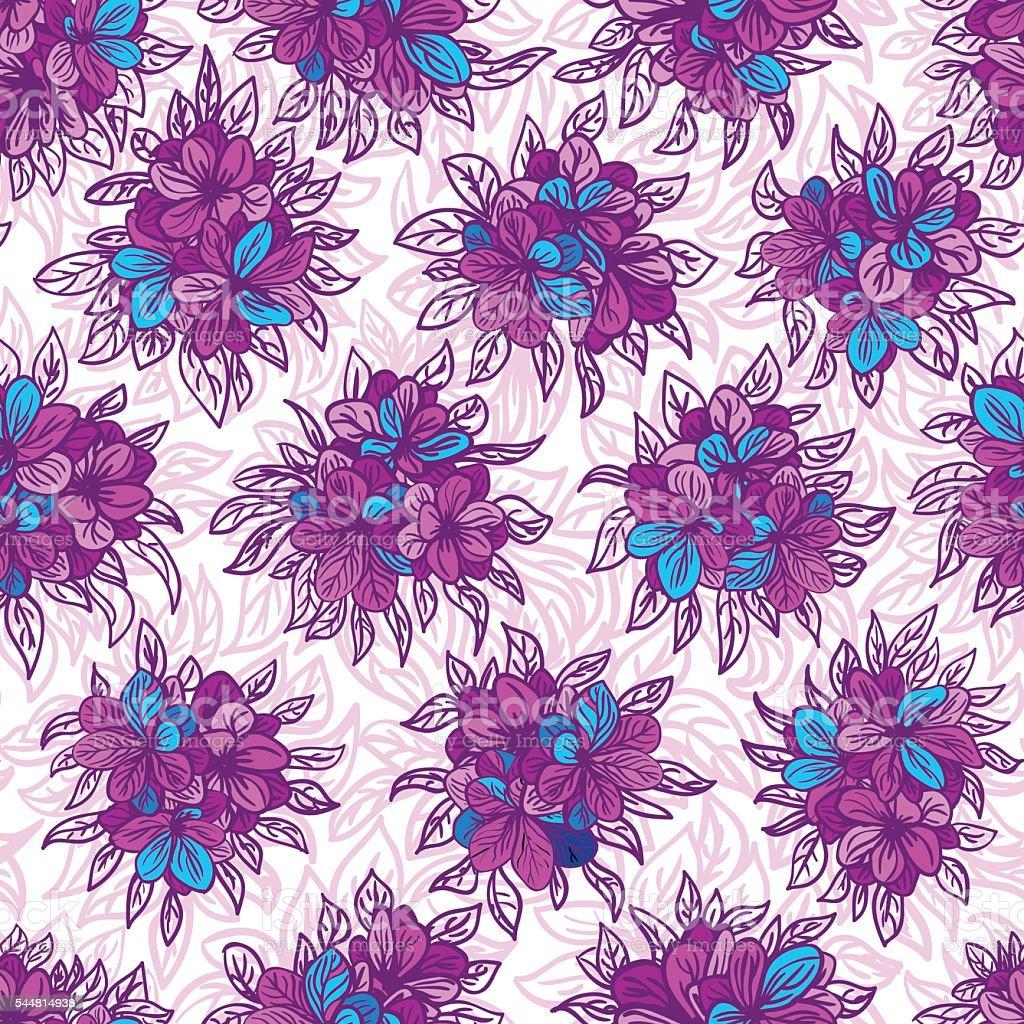 Vector seamless floral pattern vector art illustration