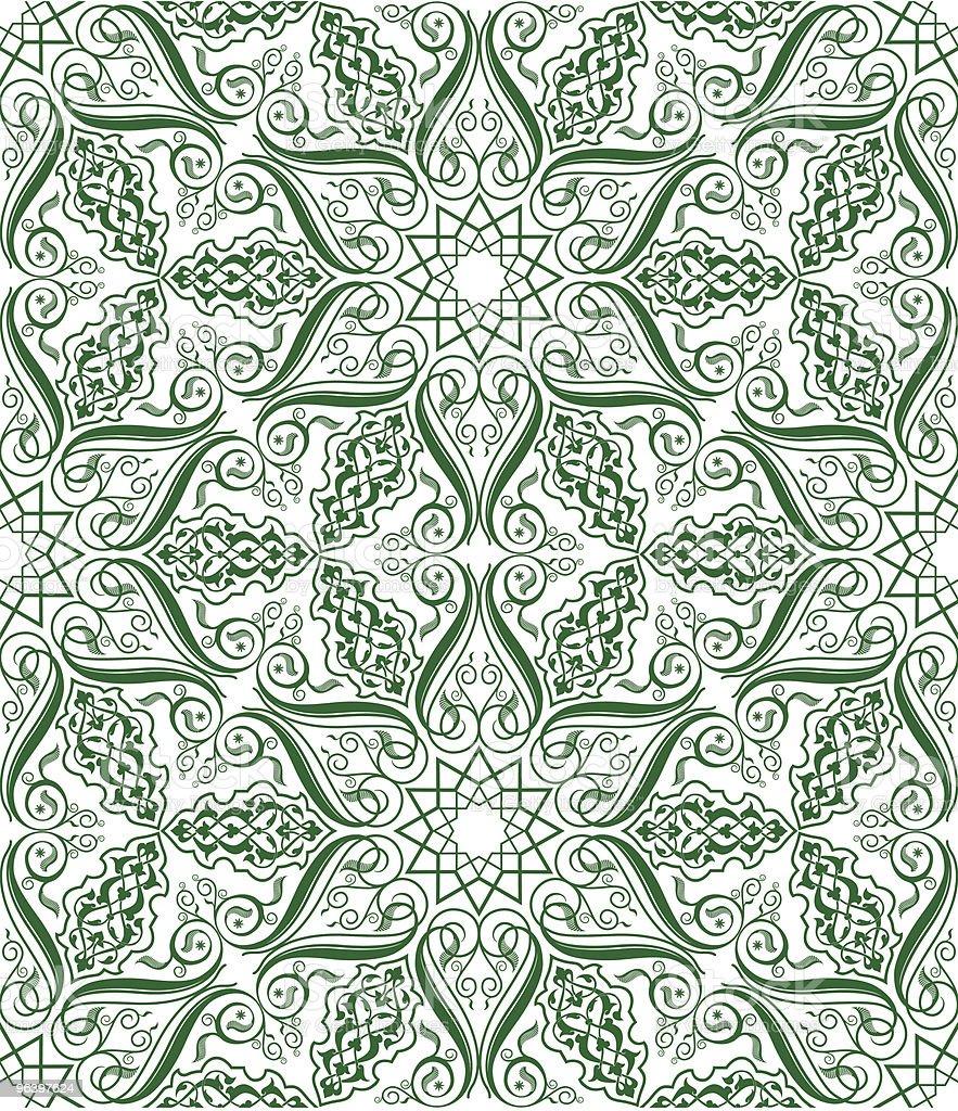 vector SEAMLESS flourish pattern royalty-free stock vector art