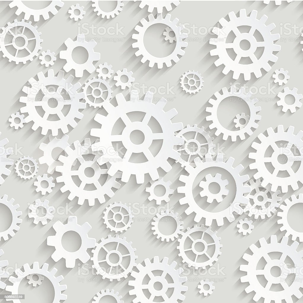 Vector seamless gears background vector art illustration