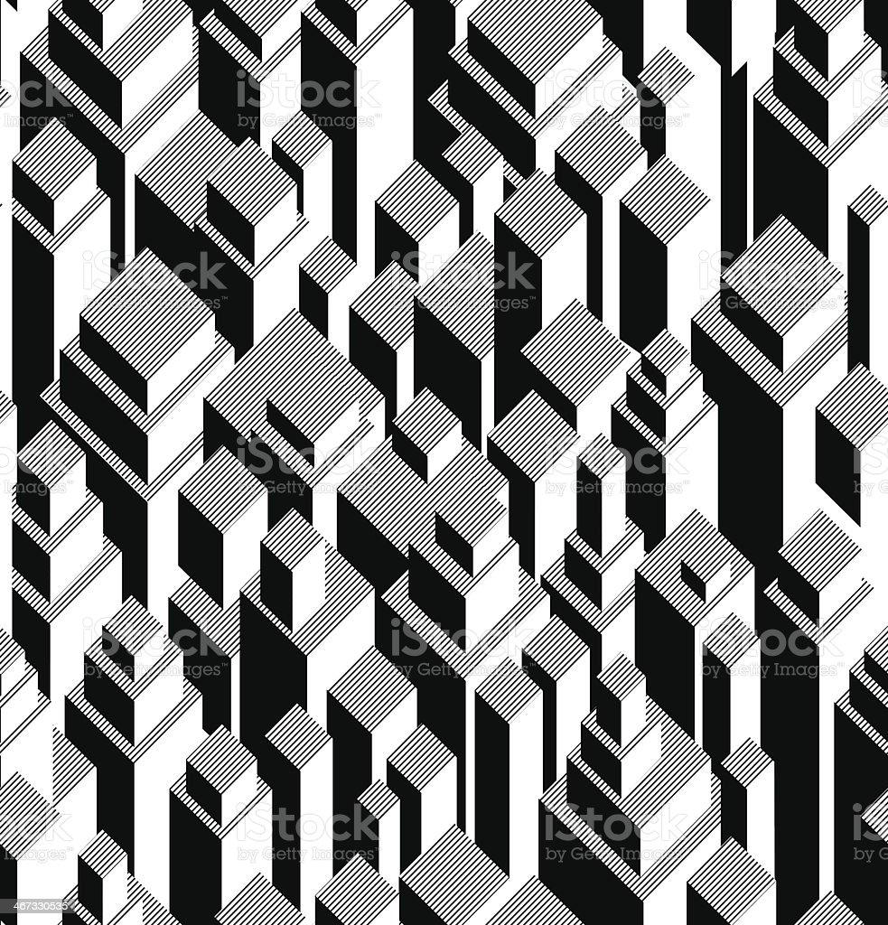 Vector seamless geometric pattern royalty-free stock vector art