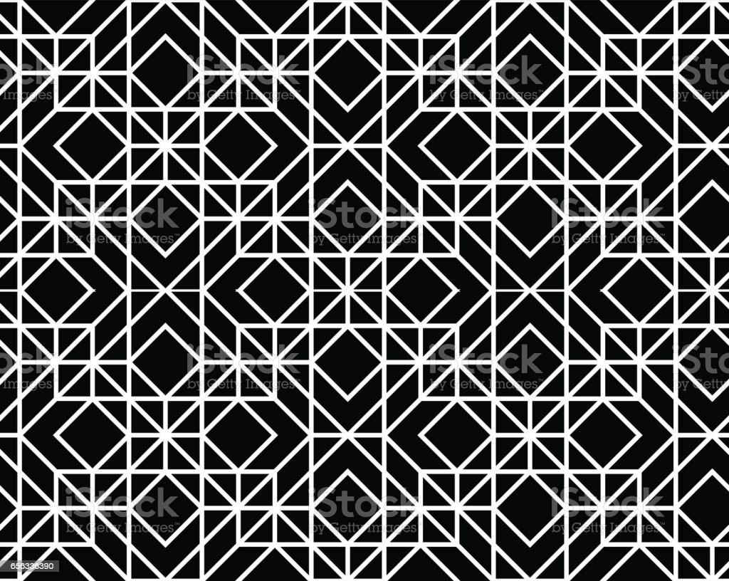 Vector seamless geometric pattern vector art illustration