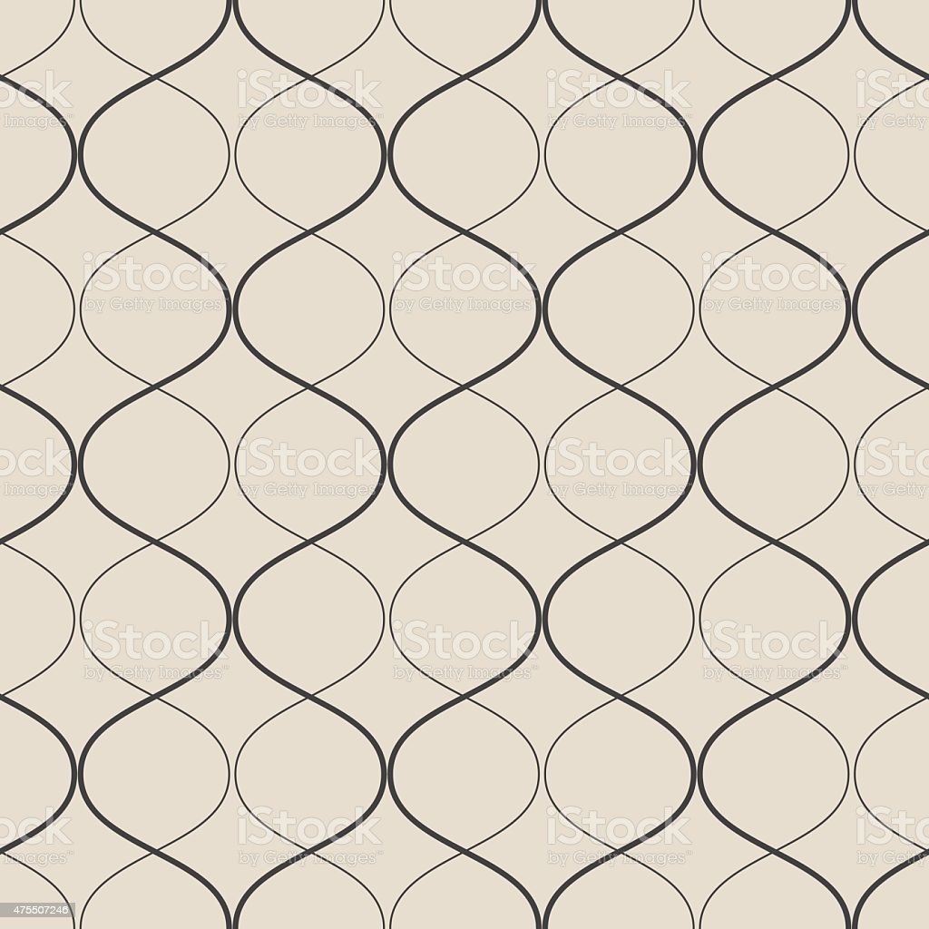 Vector seamless geometric retro pattern. vector art illustration