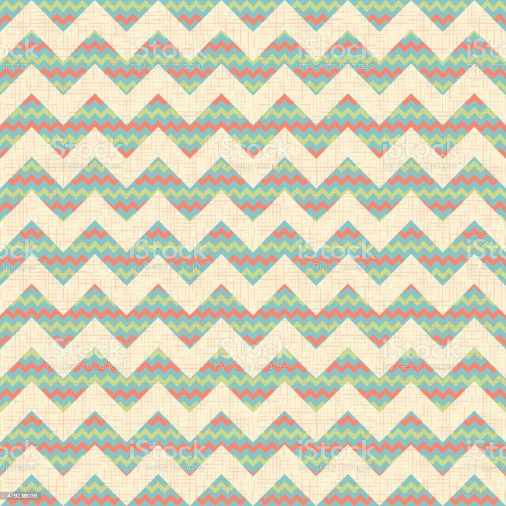 vector Seamless geometric zig zag chevron pattern royalty-free stock vector art