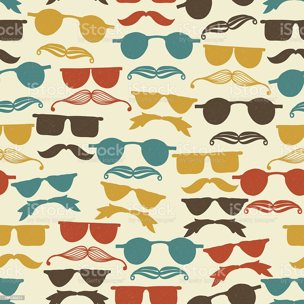 Vector Seamless Hipster Pattern royalty-free stock vector art
