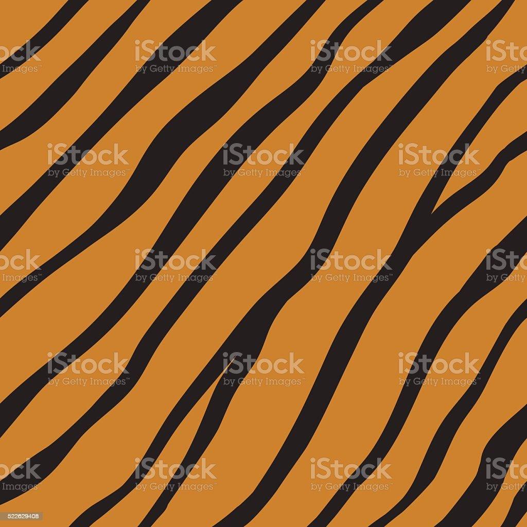 Vector seamless orange tiger fur pattern. vector art illustration