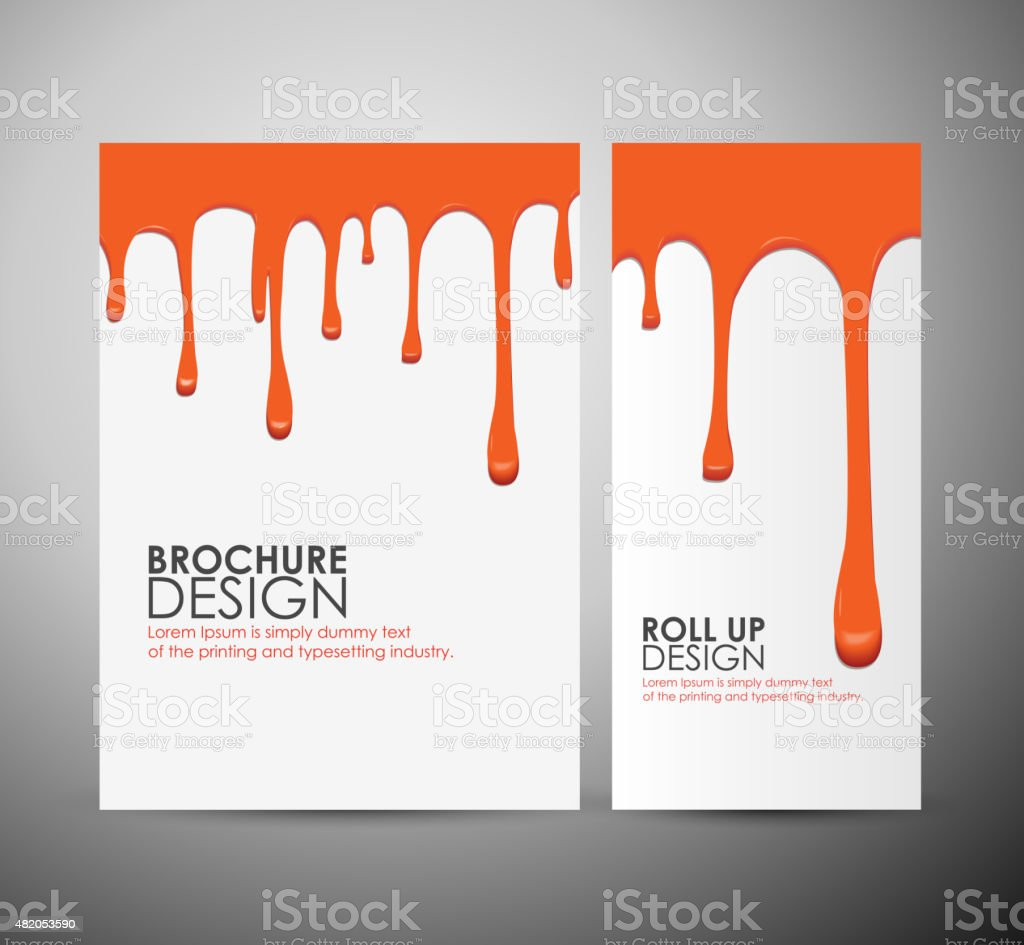 Vector seamless paint drips on brochure business or roll up. vector art illustration