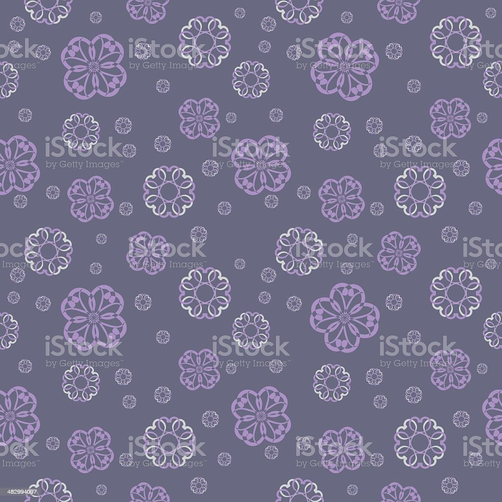 Vector seamless pattern - abstract floral background vector art illustration