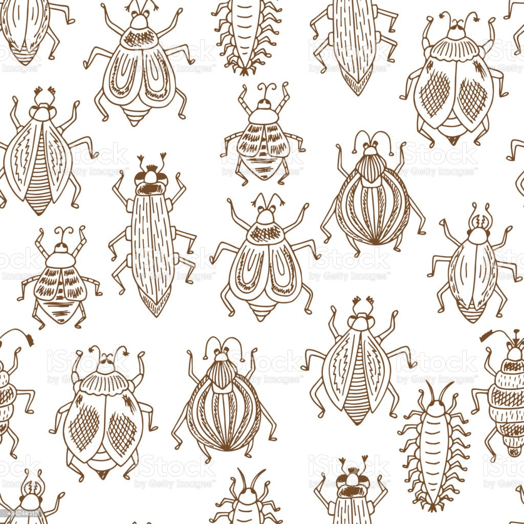 vector seamless pattern animals insects bugs stock vector art