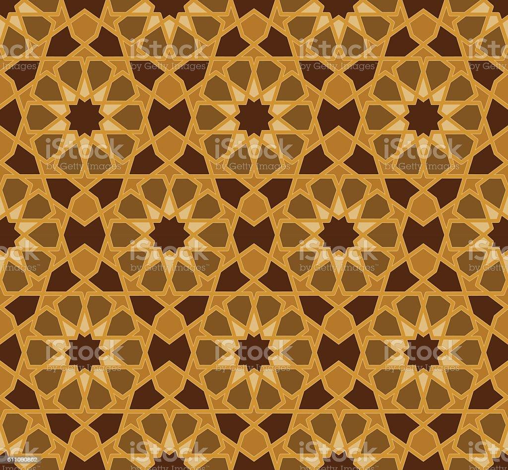 Vector seamless pattern. Colorful ethnic ornament. Arabesque style. Islamic art. vector art illustration