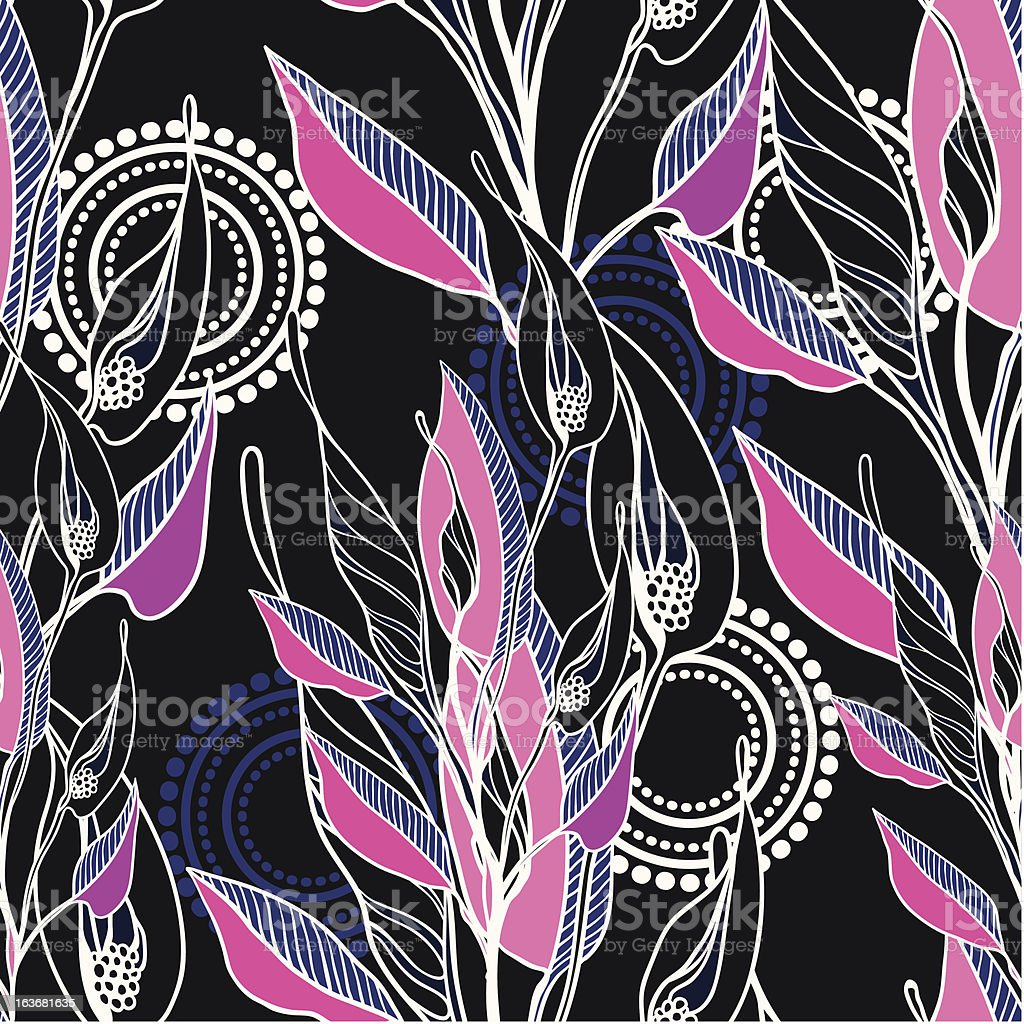 vector seamless pattern from asbtract flowers royalty-free stock vector art