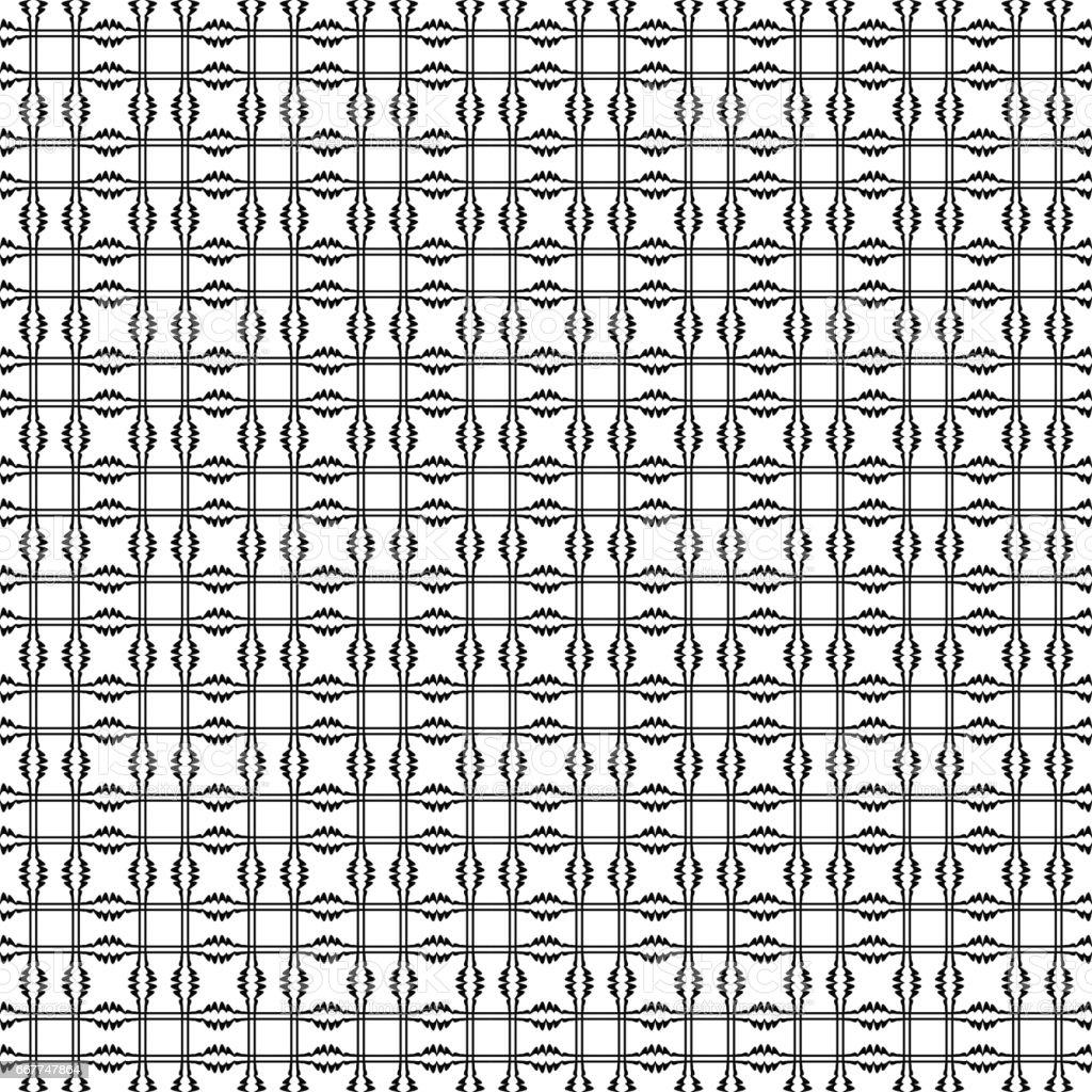 Vector seamless pattern. Geometric tiles vector art illustration