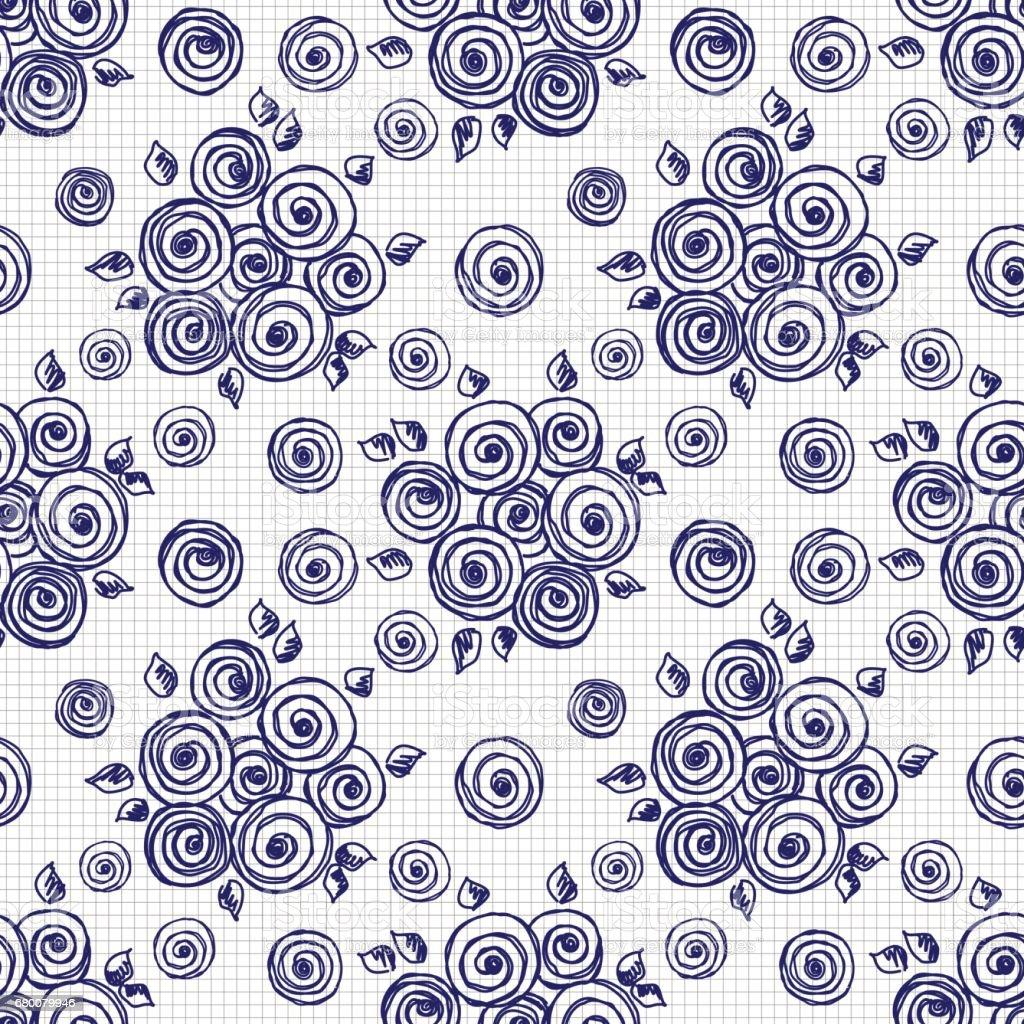 Vector seamless pattern, graphic illustration vector art illustration