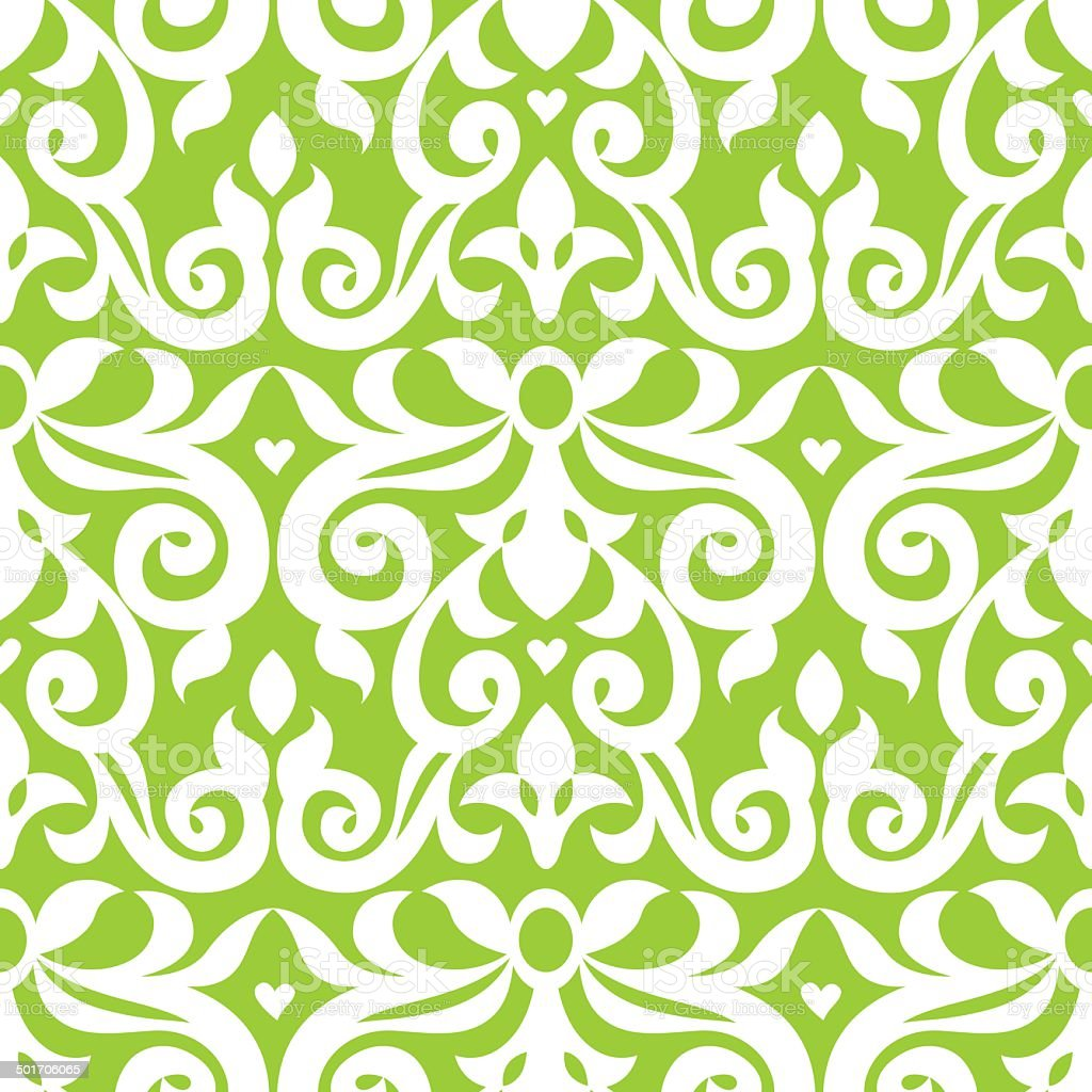 Vector seamless pattern in Victorian style. royalty-free stock vector art