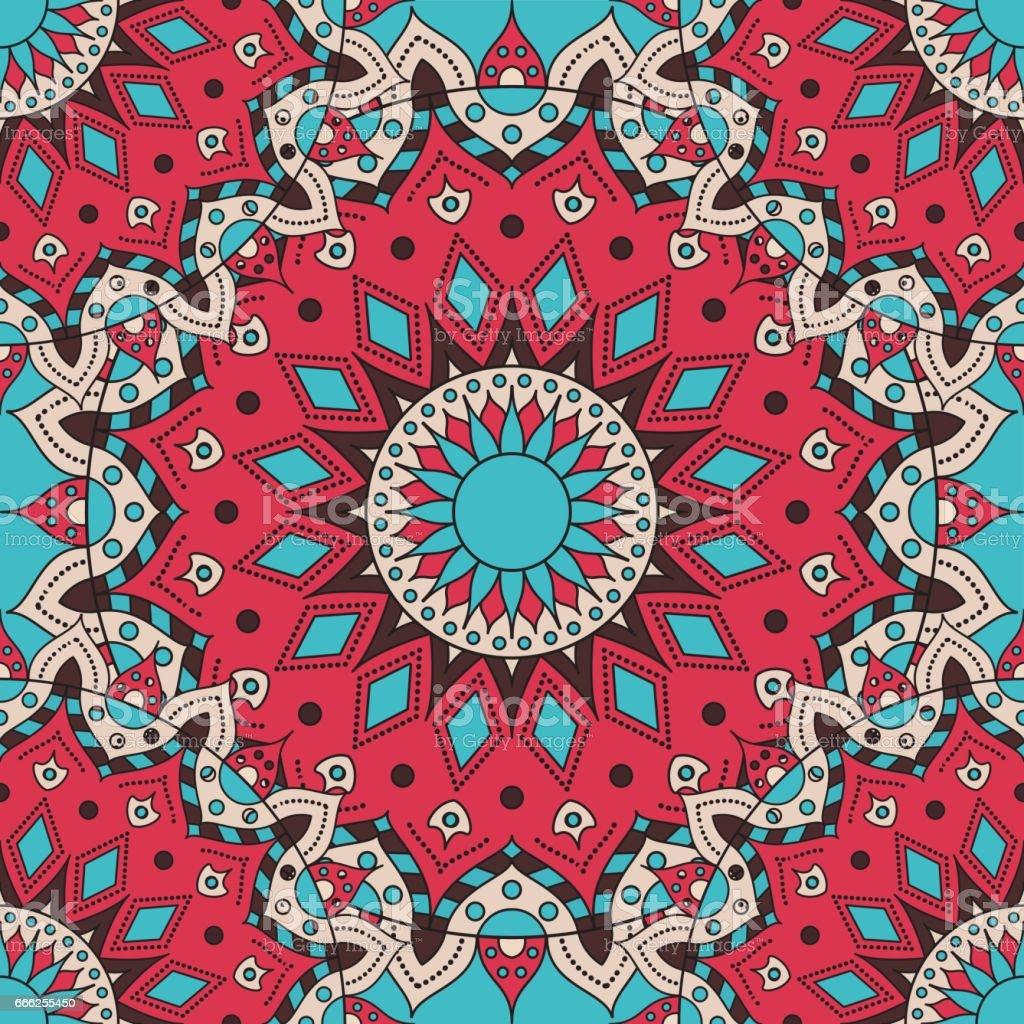 Vector seamless pattern. national decorative element for fabric ot design. Islam, Arabic, Indian, ottoman motifs vector art illustration