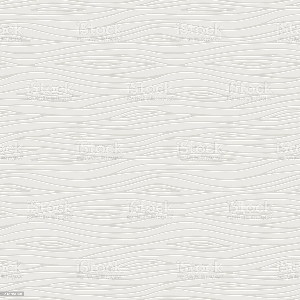 Vector seamless pattern of a white wooden texture vector art illustration