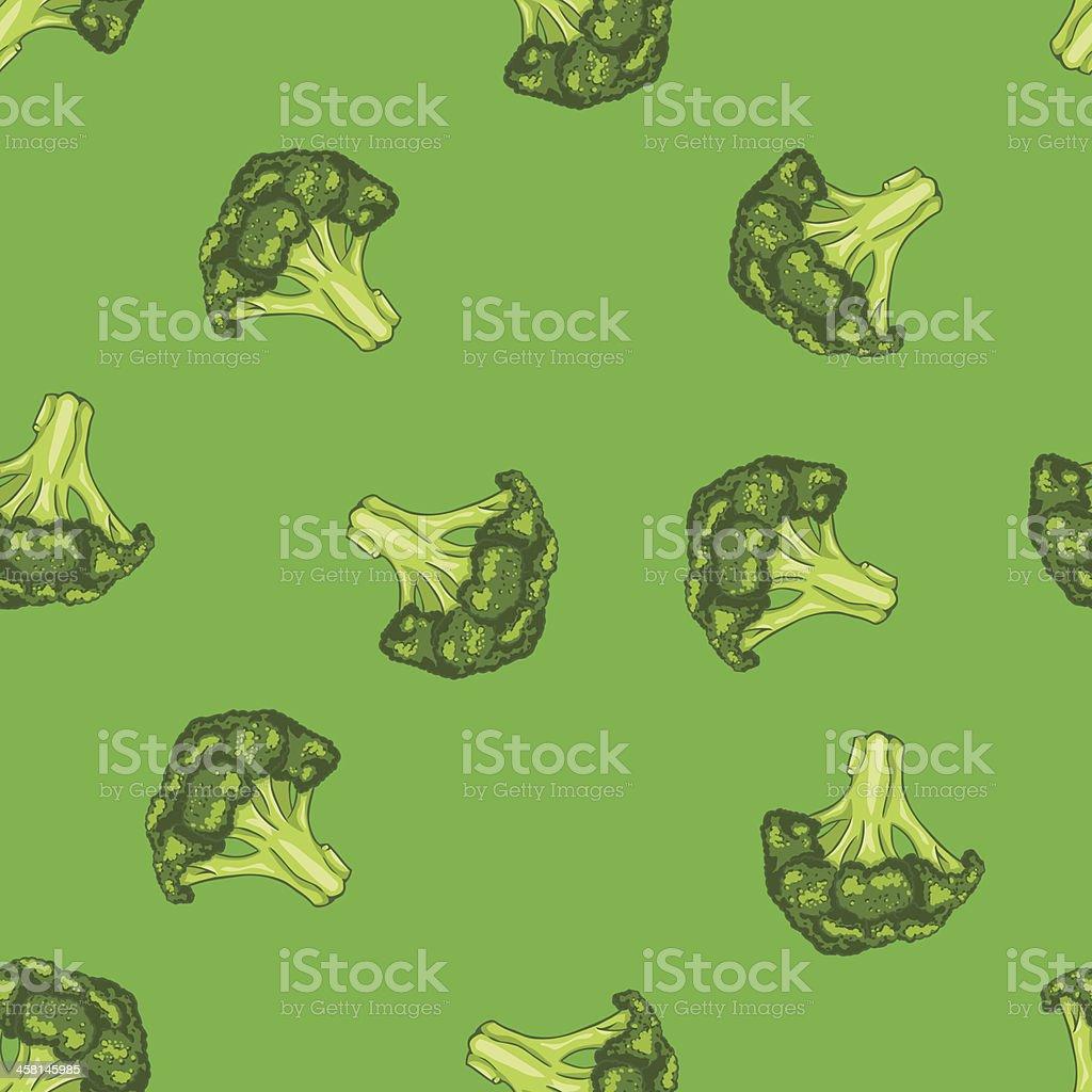vector seamless pattern of broccoli royalty-free stock vector art
