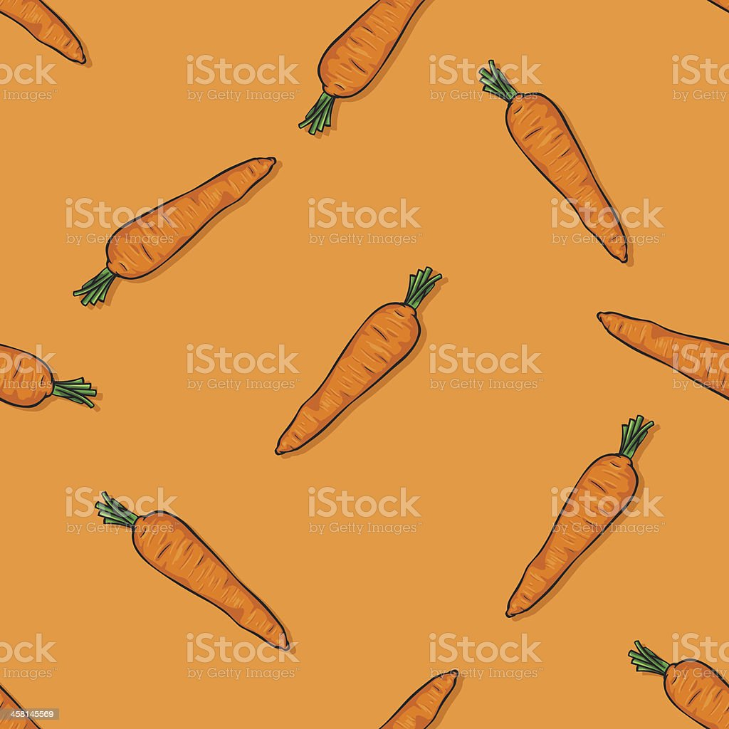 vector seamless pattern of carrots royalty-free stock vector art