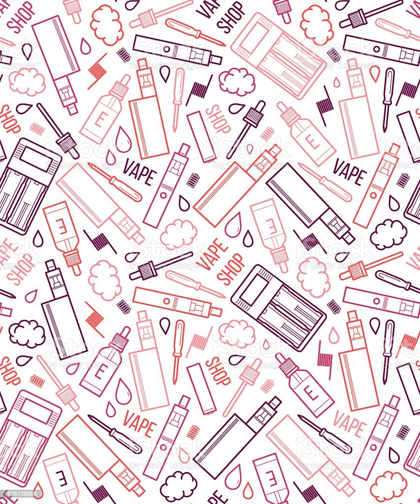 Vector seamless pattern of vape vector art illustration