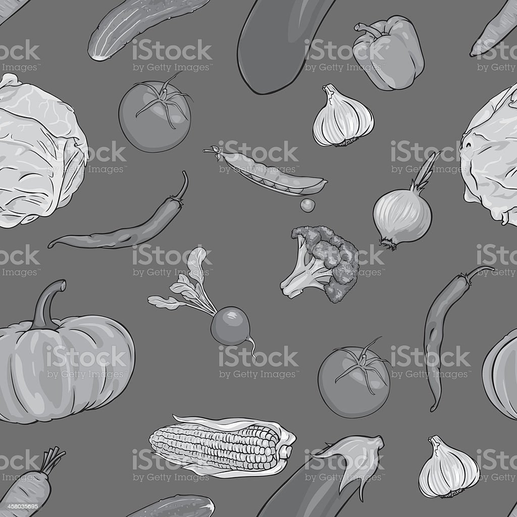 vector seamless pattern of vegetables royalty-free stock vector art