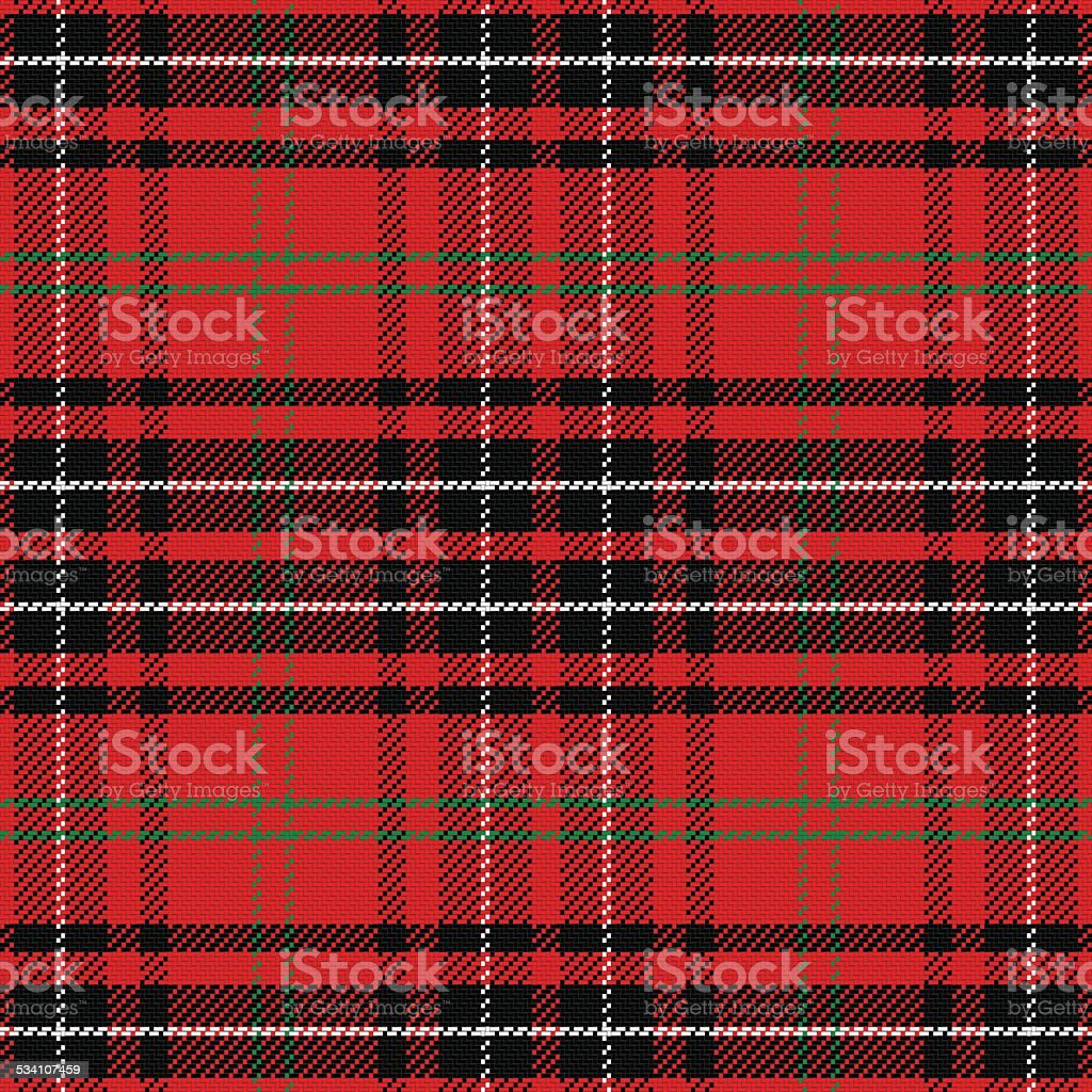 vector seamless pattern Scottish tartan vector art illustration