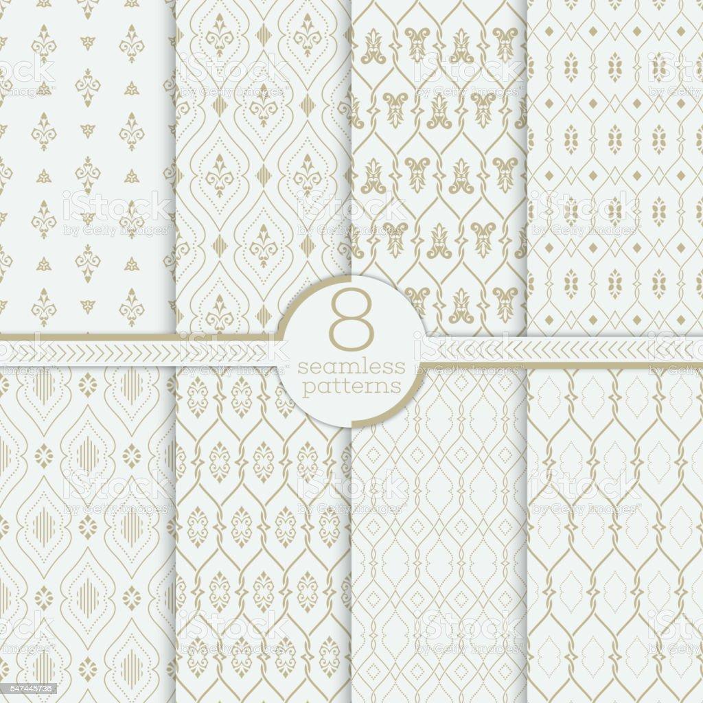 Vector seamless pattern vector art illustration