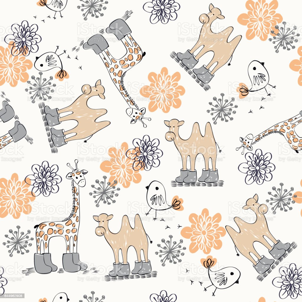 Vector seamless pattern vector art illustration