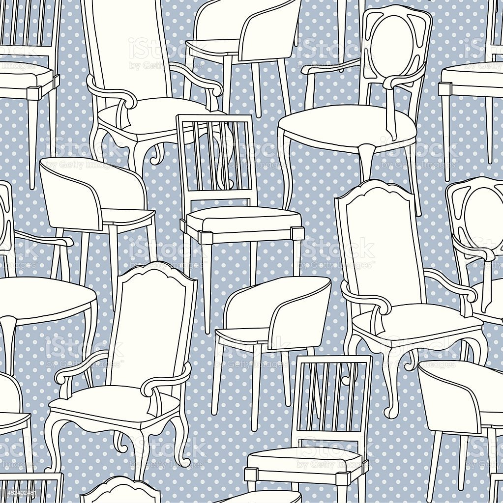 Vector pattern with armchairs royalty-free stock vector art