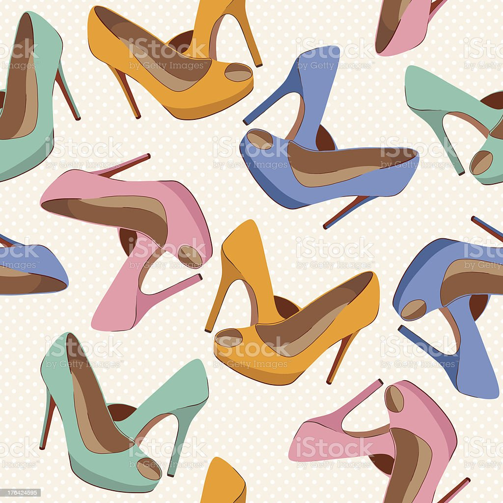 Beautiful shoes pattern royalty-free stock vector art
