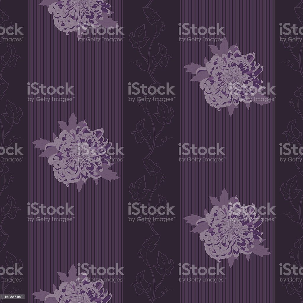 Vector seamless pattern with chrysanthemum. royalty-free stock vector art