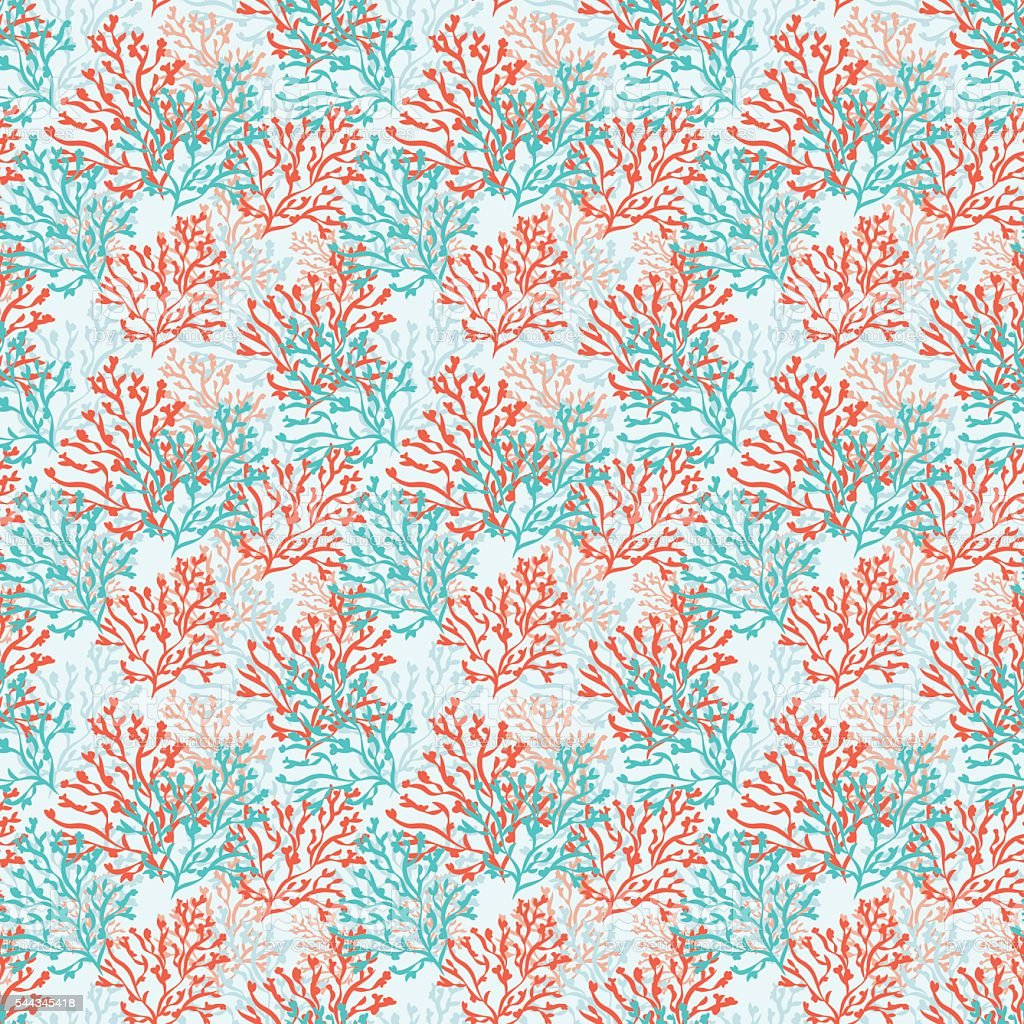 Vector seamless pattern with corals. vector art illustration