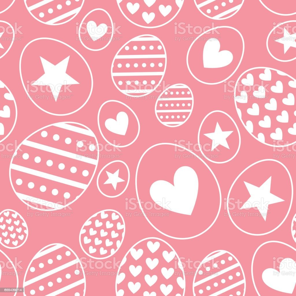 Vector seamless pattern with Easter Eggs. vector art illustration
