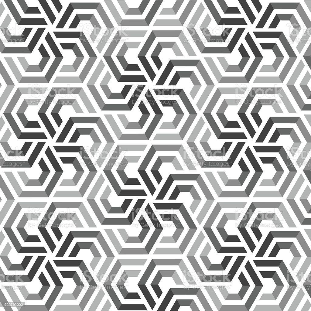 Vector seamless pattern with hexagonal elements vector art illustration