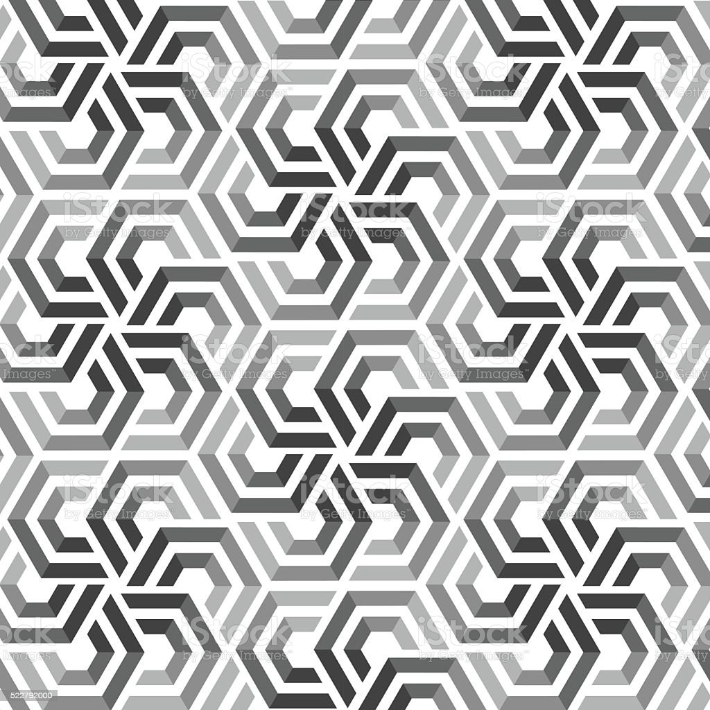 Vector seamless pattern with hexagonal elements vector art illustration