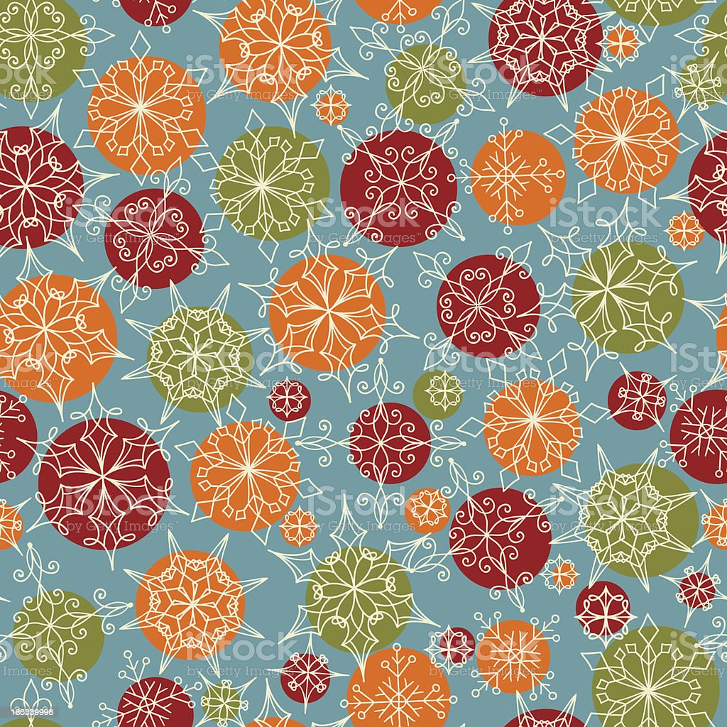 Vector seamless Pattern with Snowflakes royalty-free stock vector art