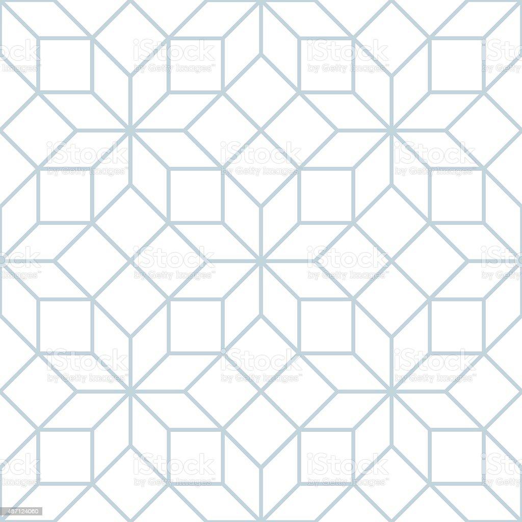 Vector seamless soft white geometric tracery pattern vector art illustration