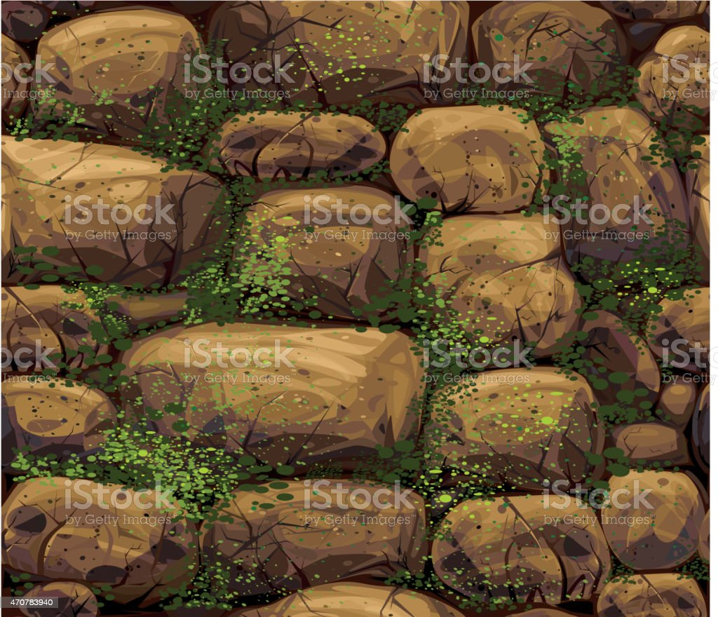 Vector seamless stone texture. vector art illustration