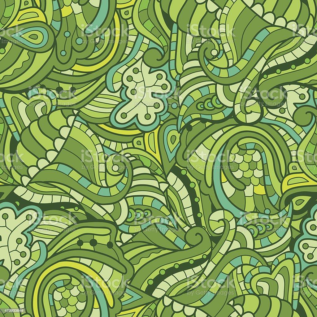 Текстура вектор Бесшовный фон с абстрактными цветами векторная иллюстрация