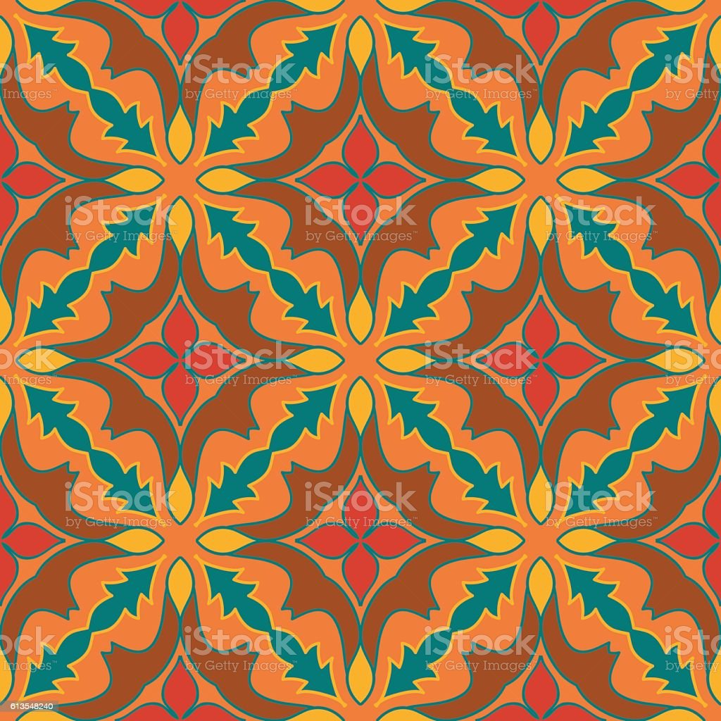 Vector seamless texture. Pattern with decorative elements vector art illustration