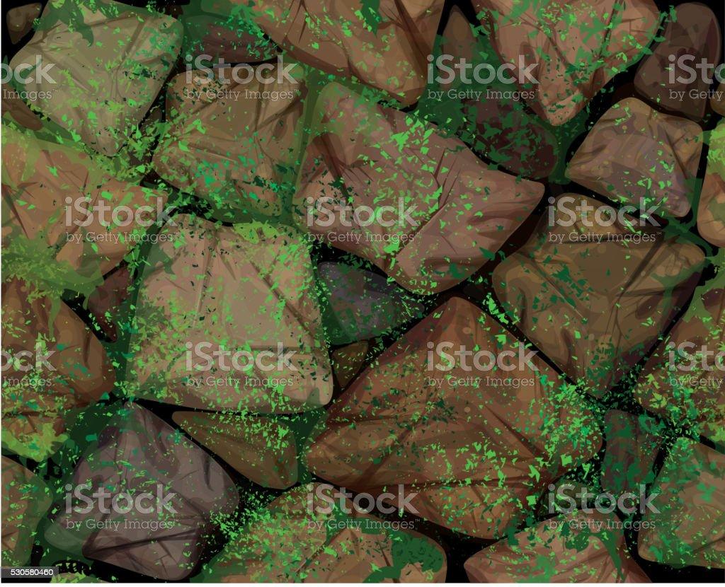 Vector seamless texture  stonewall. vector art illustration