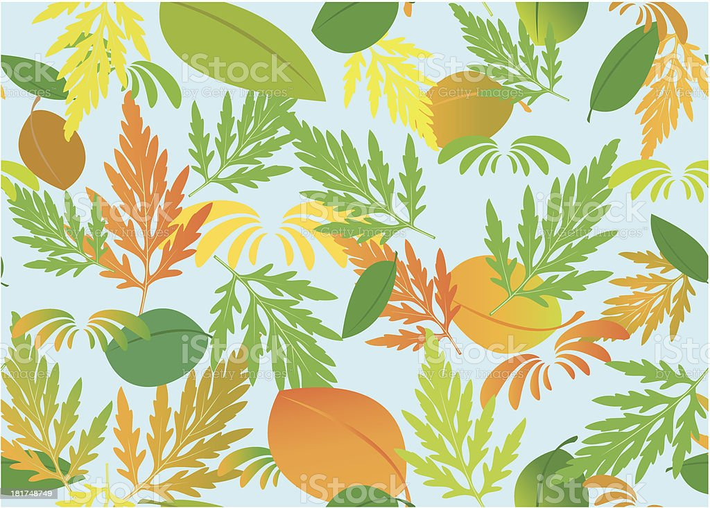 vector seamless texture with autumn theme royalty-free stock vector art