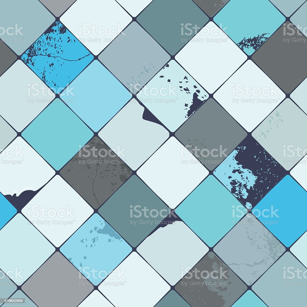 Vector seamless tile pattern vector art illustration