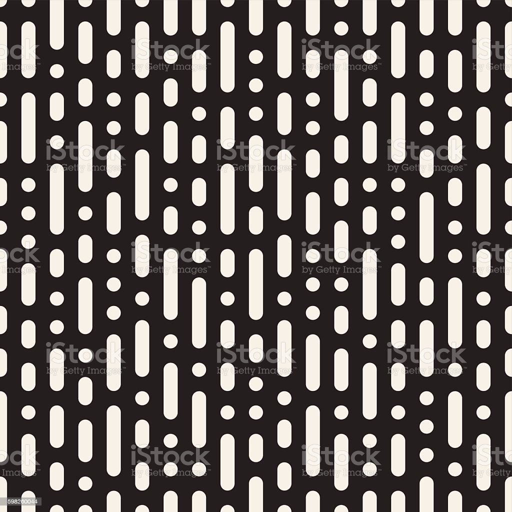 Vector Seamless Vertical Dashed Rounded Lines Rain Pattern vector art illustration