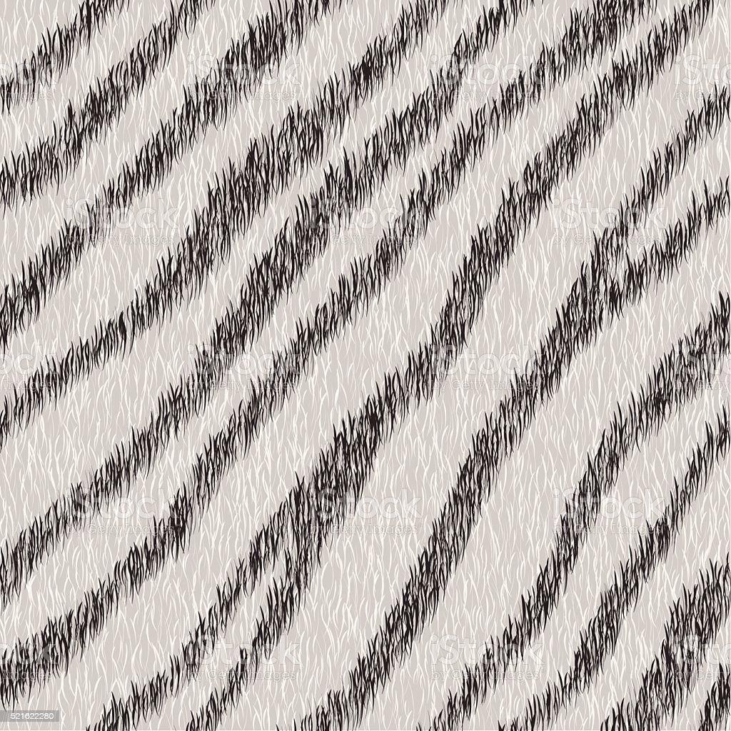 Vector seamless white tiger fur pattern. vector art illustration