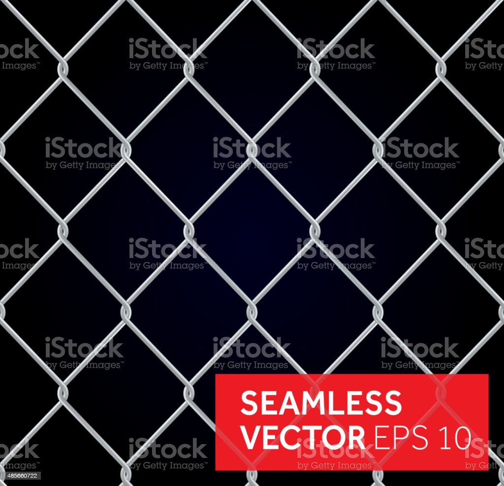 Vector seamless wired fence background vector art illustration